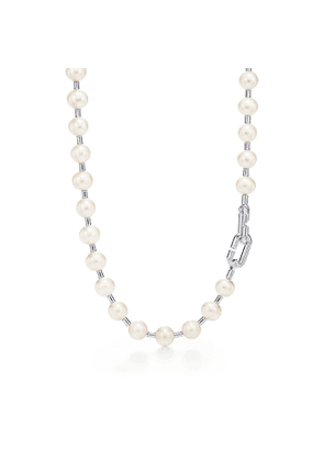 Tiffany City HardWear freshwater pearl necklace in sterling silver