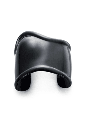 Elsa Peretti® medium Bone cuff in black finish over copper, 61 mm wide