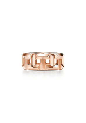 Tiffany T True 8 mm ring in 18k rose gold - Size 9