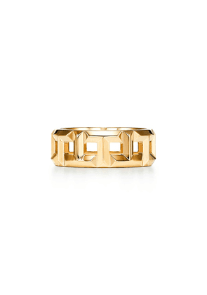 Tiffany T True 8 mm ring in 18k gold - Size 9