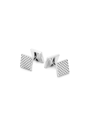 Diamond Point cufflinks in sterling silver