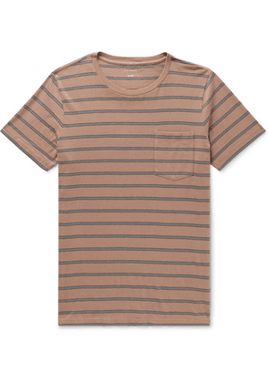 Club Monaco - Williams Striped Cotton-jersey T-shirt - Brown