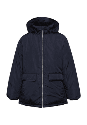 Club Monaco - Fleece-trimmed Shell Hooded Down Coat - Navy