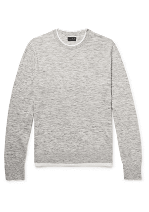 Club Monaco - Layered Mélange Cotton-blend Sweater - Gray