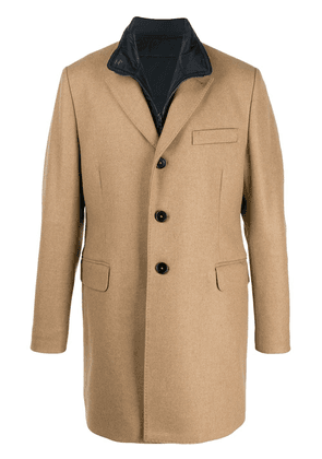 Fay fitted single-breasted coat - NEUTRALS