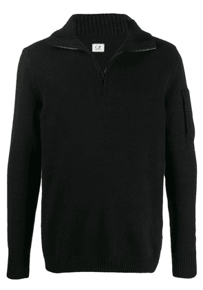 CP Company ribbed neck jumper - Black