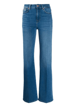 7 For All Mankind high rise flared leg jeans - Blue