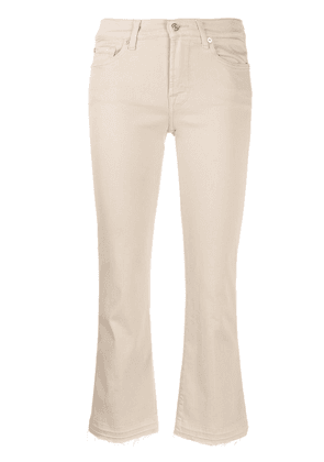 7 For All Mankind slim-fit cropped jeans - NEUTRALS