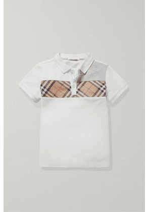 Burberry Kids - Ages 3 - 12 Checked Canvas-trimmed Piqué Polo Shirt