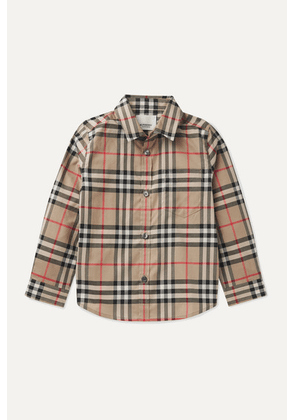 Burberry Kids - Checked Cotton-poplin Shirt - Beige