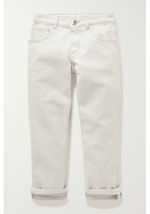 Brunello Cucinelli Kids - Ages 8 - 10 Bead-embellished Jeans