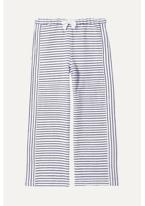 LemLem Kids - Welela Striped Cotton-blend Gauze Pants - Blue