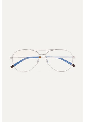 SAINT LAURENT - Aviator-style Silver-tone Optical Glasses - one size