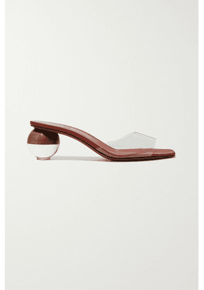 Neous - Opus Pvc And Leather Mules - Tan