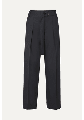 Victoria, Victoria Beckham - Striped Twill Tapered Pants - Navy
