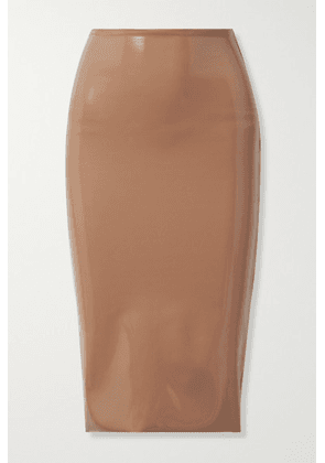 Commando - Faux Stretch Patent-leather Skirt - Sand