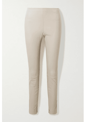 Theory - Stretch-leather Leggings - Taupe