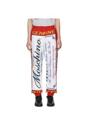 Moschino Red and White Budweiser Edition Logo Lounge Pants