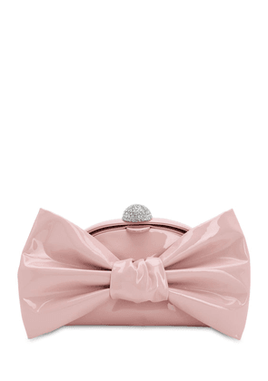 Patent Leather Bow Clutch