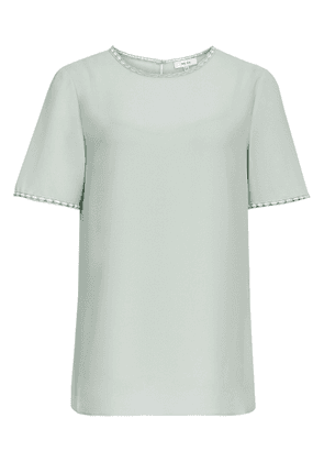 Reiss Stella - Lace Trim Top in Pale Green, Womens, Size 4