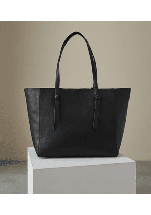Reiss Kate - Leather Tote Bag in Black, Womens