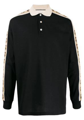 Gucci logo tape polo shirt - Black