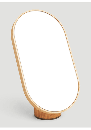 Tre Product Woodturn Mirror in Brown size One Size