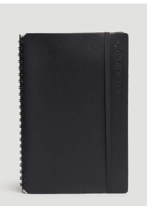 Vacavaliente Ruled Large Notepad in Black size One Size