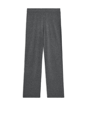 Cashmere Knitted Trousers - Grey