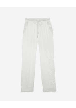 The Kooples - Flowing white trousers with lace finish - WOMEN