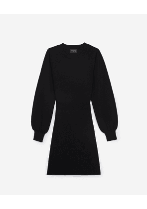 The Kooples - Fitted black short knitted dress - WOMEN
