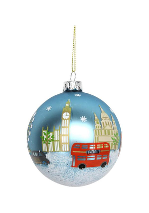 Painted Glass London Bauble