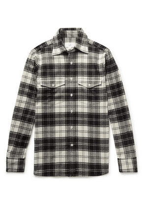 Dunhill - Checked Brushed Wool-blend Flannel Shirt - Black