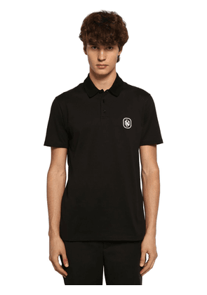 Cotton Blend Jersey Polo