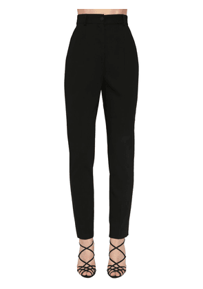 High Waist Stretch Gabardine Skinny Pant