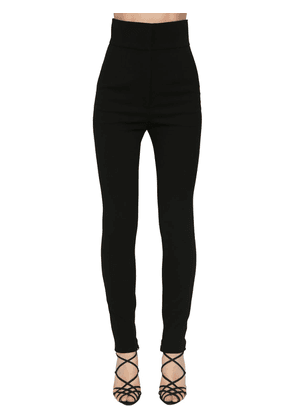 Stretch Gabardine Wool Skinny Pants