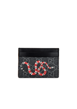 Gucci Card Holder in Black & Multi - Black,Novelty. Size all.
