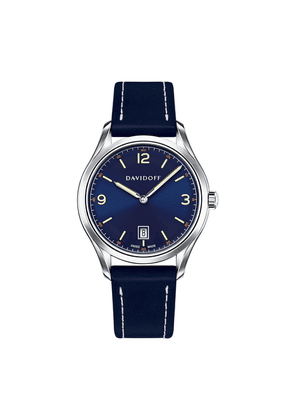 Blue Essentials No.1 Watch with Blue Leather Strap
