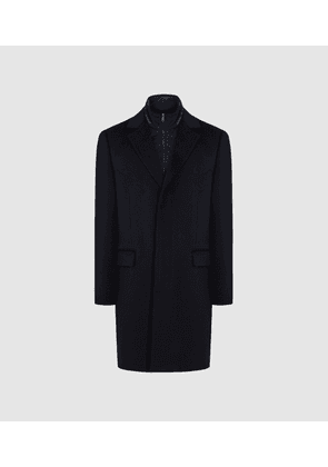 Reiss Coal - Overcoat With Removable Insert in Navy, Mens, Size XS