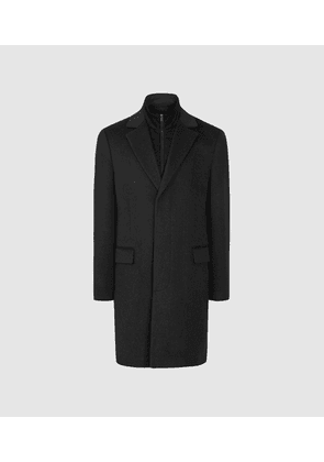 Reiss Coal - Overcoat With Removable Insert in Charcoal, Mens, Size XS