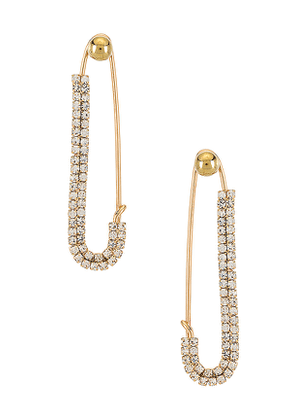 8 Other Reasons Play It Safe Earring in Metallic Gold.