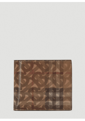 Burberry Lenticular Monogram Wallet in Brown size One Size