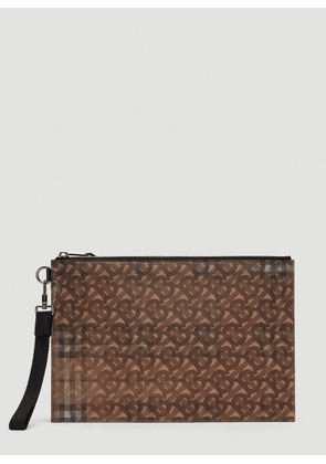 Burberry Lenticular Monogram Pouch in Brown size One Size
