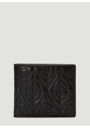 Gucci Quilted Monogram Wallet in Black size One Size