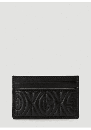 Gucci Quilted Monogram Card Holder in Black size One Size