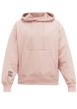 Ami - Number 9 Cotton Jersey Hooded Sweatshirt - Mens - Pink