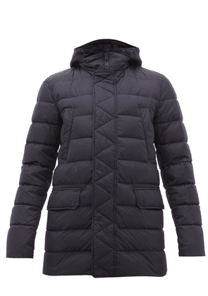 Herno - Bomber Quilted Down Jacket - Mens - Navy