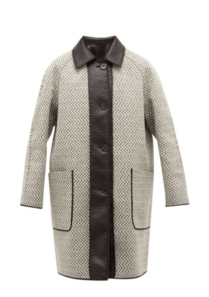 Givenchy - Reversible Coated Woven Wool Blend Coat - Mens - White