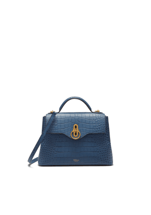 Mulberry Small Seaton in Pale Navy Matte Croc