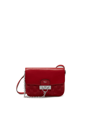 Mulberry Keeley Satchel in Scarlet Quilted Shiny Buffalo